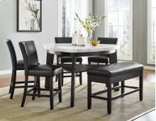"Carrara Black PU Counter Chair 19"" x 27"" x 40"""