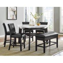 """Carrara Black PU Counter Chair 19"""" x 27"""" x 40"""""""