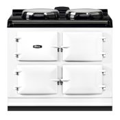 """AGA Dual Control 39"""" Electric/Natural Gas White with Stainless Steel trim"""