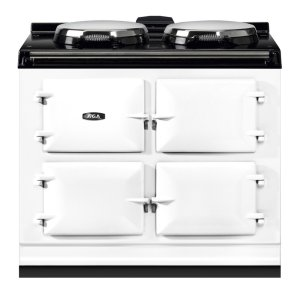 "AGAAGA Dual Control 39"" Electric/Natural Gas White with Stainless Steel trim"