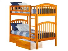Richland Bunk Bed Twin over Twin with Urban Bed Drawers in Caramel Latte