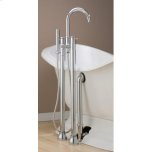 CHEVIOTCONTEMPORARY Tub Faucet with Hand Shower & Free Standing Water Supply Lines