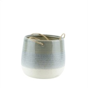 Ceramic Hanging Flower Pot, Gray