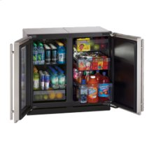 """Stainless Right-hand Modular 3000 Series / 18"""" Glass Door Refrigerator / Single Zone Convection Cooling System"""