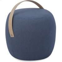 Olivia Pouf Ottoman in Denim Product Image