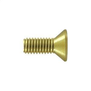 """Machine Screw, SB, #10 x 1/2"""" - Polished Brass"""
