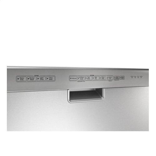 KitchenAid® 24-Inch 4-Cycle/6-Option Dishwasher, Pocket Handle - Stainless Steel