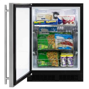 Marvel24-In Built-In All Freezer with Door Style - Stainless Steel, Door Swing - Left