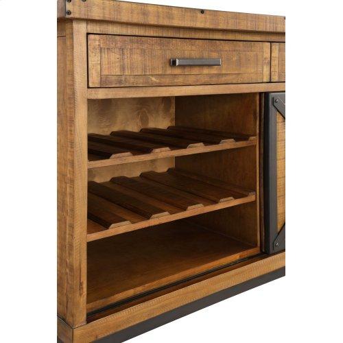 Emerald Home Chandler Server W/wine Rack Burnt Amber D100-50