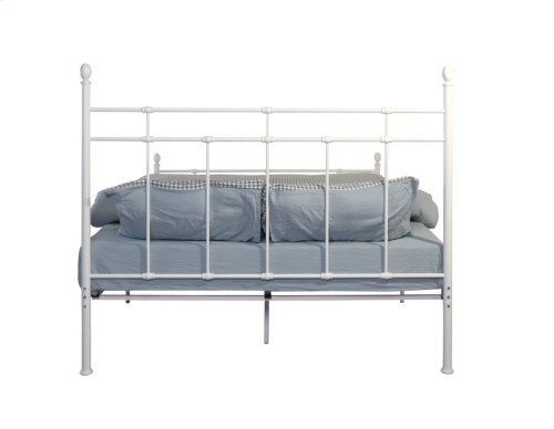 Emerald Home Alexandria Metal Bed White B204-09hbfbrwht