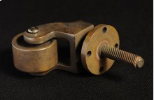 Antique Brass Caster Finish
