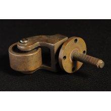 Antique Brass Caster Finish