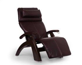 Perfect Chair PC-420 Classic Manual Plus - Burgundy Premium Leather - Dark Walnut