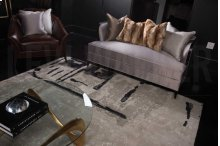 Christopher Guy Wool & Silk Collection Cgs11 Sea Sand Rectangle Rug 9' X 12'