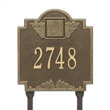 Monogram - Standard Lawn - One Line - Antique Brass