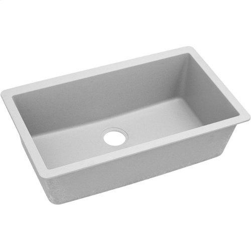 "Elkay Quartz Classic 33"" x 18-7/16"" x 9-7/16"", Single Bowl Undermount Sink, White"