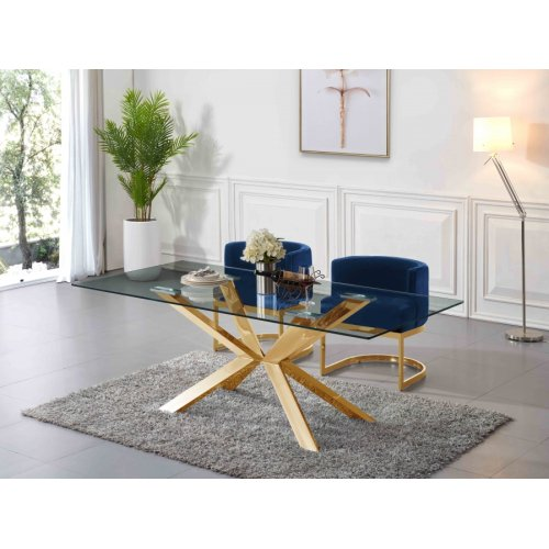 "Capri Gold Dining Table - 78"" W x 39"" D x 30"" H"