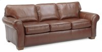 Vail Leather Three-Cushion Sofa Product Image
