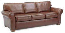 Vail Leather Three-Cushion Sofa