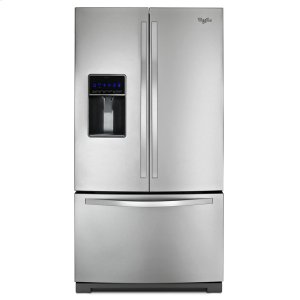 Whirlpool 36-Inch Wide French Door Refrigerator With Microedge(r) Shelves - 25 Cu. Ft.
