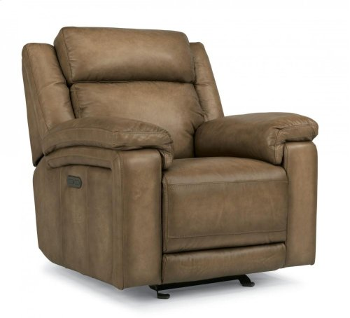 Brody Leather Power Gliding Recliner with Power Headrest