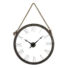 Metal Wall Clock Hung on Rope