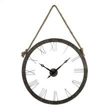 Metal Wall Clock Hung on Rope