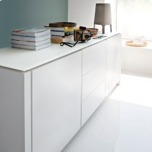 Wooden sideboard with drawers