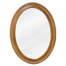 "23-3/4"" x 31-1/2"" Warm Caramel oval mirror with beveled glass"