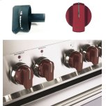 Set of 7 Knobs for Designer Single Oven Electric Range - Burgundy