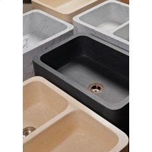 "Polished & Honed Front Farmhouse Sinks 33"" Width / Honed Basalt"