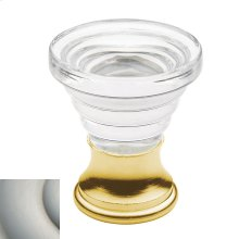 Satin Nickel Crystal Cone Cabinet Knob