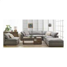 Clay Ottoman Fabric Livesmart Light Grey