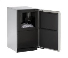 """18"""" Clear Ice Machine Stainless Solid Right-Hand Hinge (Pump) - Floor Model"""
