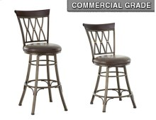 "Bali Swivel Bar Chair, 19""x17""x 48"""