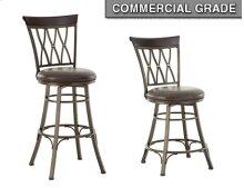 "Bali Jumbo Swivel Counter Chair With Armrest, 24""x24""x42"""