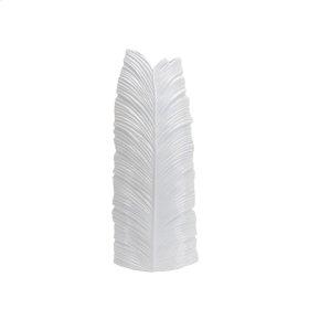 "White Leaf Vase 30.5"""