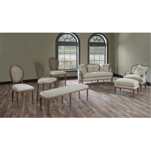 "Emerald Home Salerno Barstool 30"" W/uph Seat-rattan Back-sand Gray/distressed Finish-u3693-30-09"