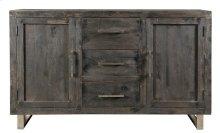 Bengal Manor Mango Wood Ebony 2 Door 3 Drawer Sideboard