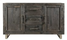 Bengal Manor Mango Wood Ebony 2 Door 3 Drawer Sideboard