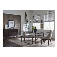 Austin by Rachael Ray Rect. Dining Table w/ Brass Finished Wood Accents