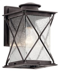 "Argyle 10.25"" 1 Light Wall Light Weathered Zinc"