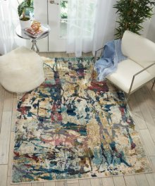 Fusion Fss10 Cream/multi Rectangle Rug 7'10'' X 10'6''