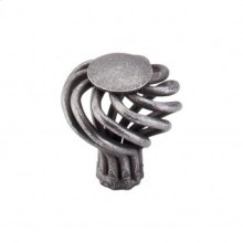 Round Small Twist Knob 1 1/4 Inch - Pewter