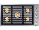 """36"""" Drop-In Gas Cooktop, Graphite Stainless Steel, Natural Gas Product Image"""