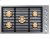 """Additional 36"""" Drop-In Gas Cooktop, Graphite Stainless Steel, Natural Gas"""