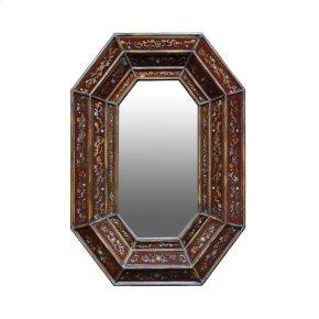 Valina Hand Painted Glass Mirror