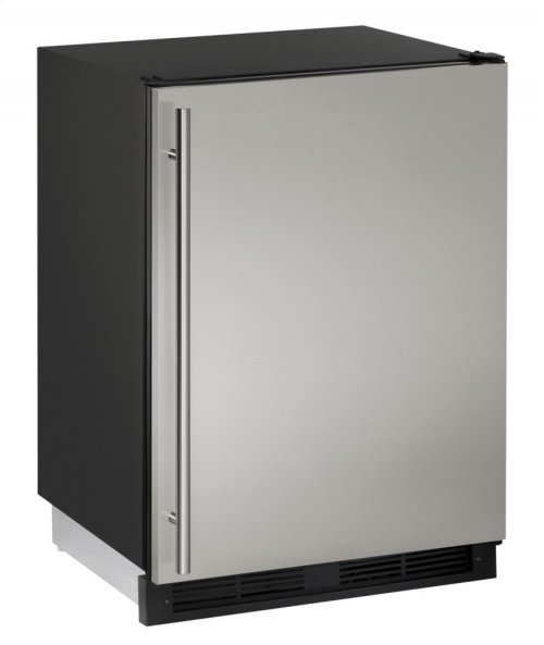 """1000 Series 24"""" Solid Door Refrigerator With Stainless Solid Finish and Field Reversible Door Swing"""