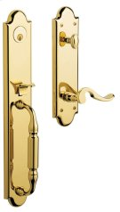 Lifetime Polished Brass Devonshire Handleset Product Image