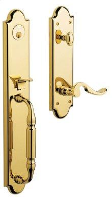 Lifetime Polished Brass Devonshire Handleset